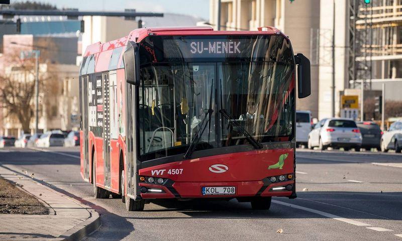 """Akcijos """"Su-Menėk"""" autobusas. Sauliaus Žiūros / Vilniaus savivaldybės nuotr."""