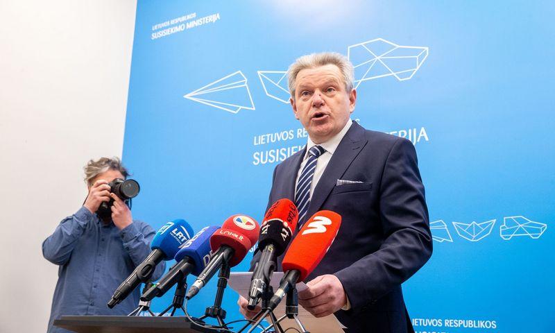 Jaroslavas Narkevičius, susisiekimo ministras. Juditos Grigelytės (VŽ) nuotr.