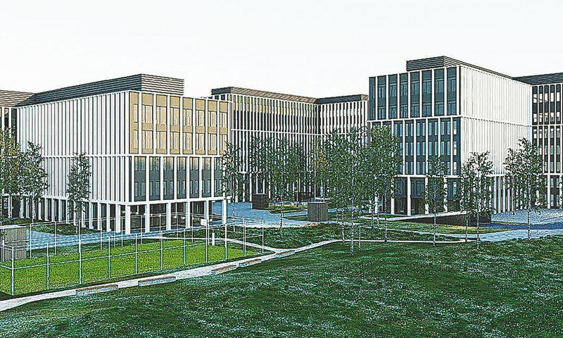 """""""Business Garden Vilniaus"""" vizualizacija."""