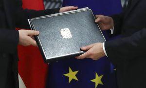 """EP galutiniu balsavimu uždegs žalią šviesą """"Brexit"""""""