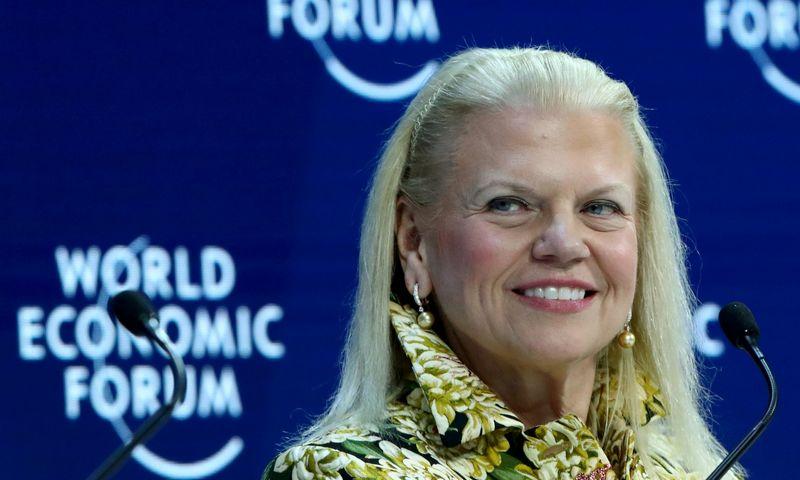 Chairman, President and CEO of IBM Ginni Rometty attends a session at the 50th World Economic Forum (WEF) annual meeting in Davos, Switzerland, January 21, 2020. REUTERS/Denis Balibouse
