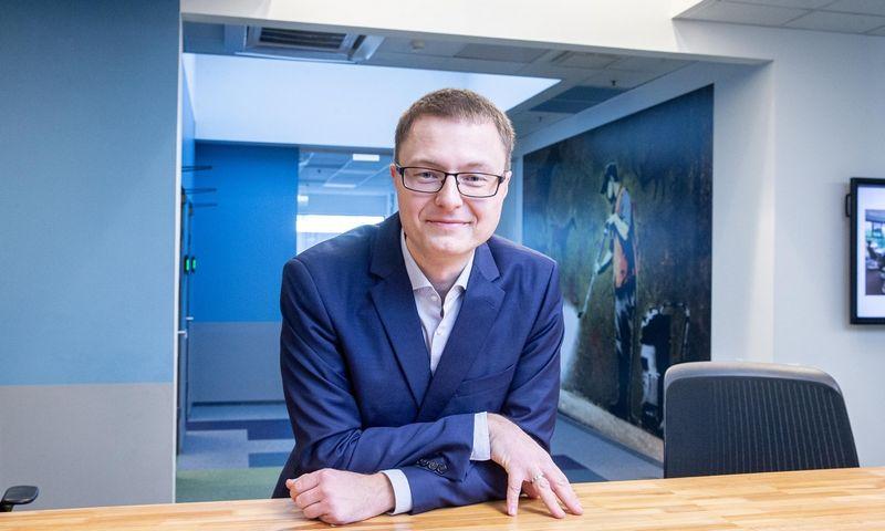 """Mantas Skardžius, """"Danske Bank"""" turto valdymo ESG investicijų vyr. analitikas. Juditos Grigelytės (VŽ) nuotr."""