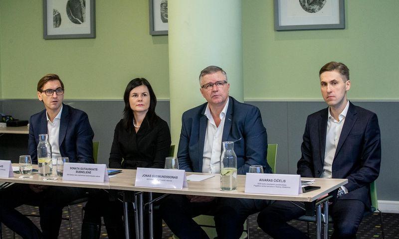 SEB banko spaudos konferencija. Juditos Grigelytės (VŽ) nuotr.
