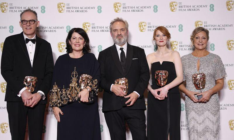 """Karinės drama """"1917"""" pelnė daugiausia BAFTA apdovanojimų. Toby Melville (""""Reuters""""/""""Scanpix"""") nuotr."""