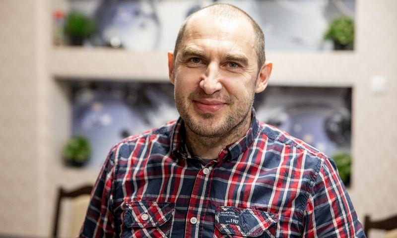 """Sigitas Jurčys, Biržų UAB """"Šokolado gama"""" direktorius."""
