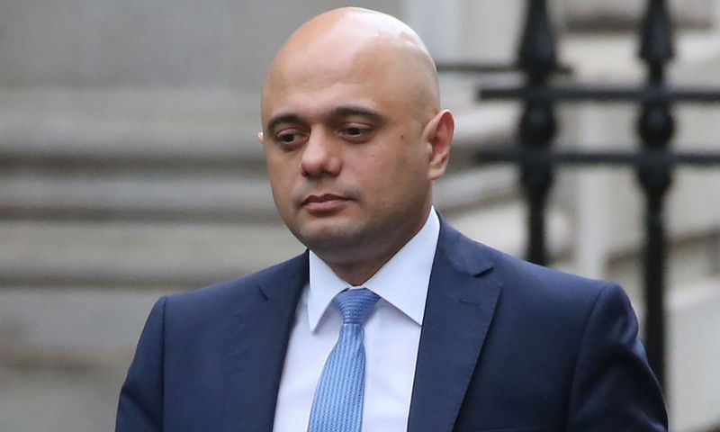 Britain's Chancellor of the Exchequer Sajid Javid walks at 10 Downing Street in central London on February 13, 2020. - British Finance Minister Sajid Javid resigned on Thursday, in a shock move that deals a blow to Prime Minister Boris Johnson's government just weeks after Brexit and a month before the annual budget (Photo by Isabel Infantes / AFP)