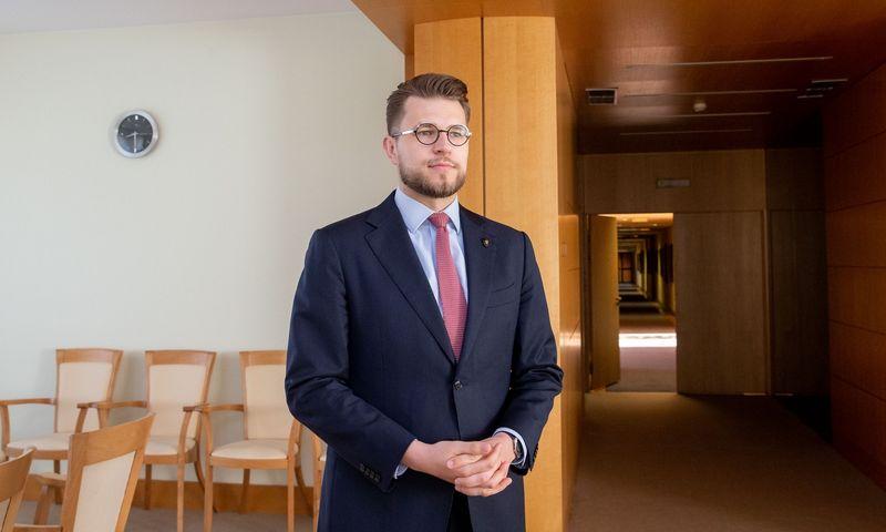 Lukas Savickas, ministro pirmininko patarėjas ekonomikos ir strateginių pokyčių valdymo klausimais. Juditos Grigelytės (VŽ) nuotr.
