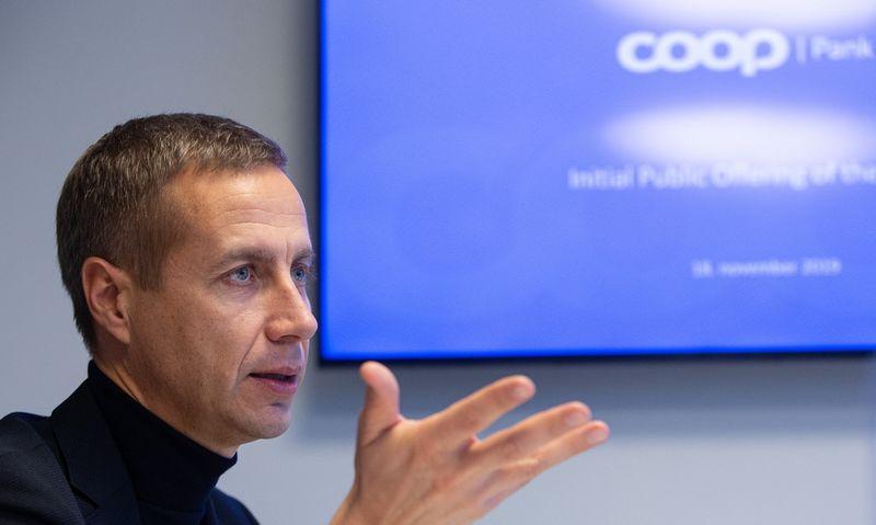 """Margusas Rinkas, """"Coop Pank"""" valdybos pirmininkas ir generalinis direktorius. Vladimiro Ivanovo (VŽ) nuotr."""