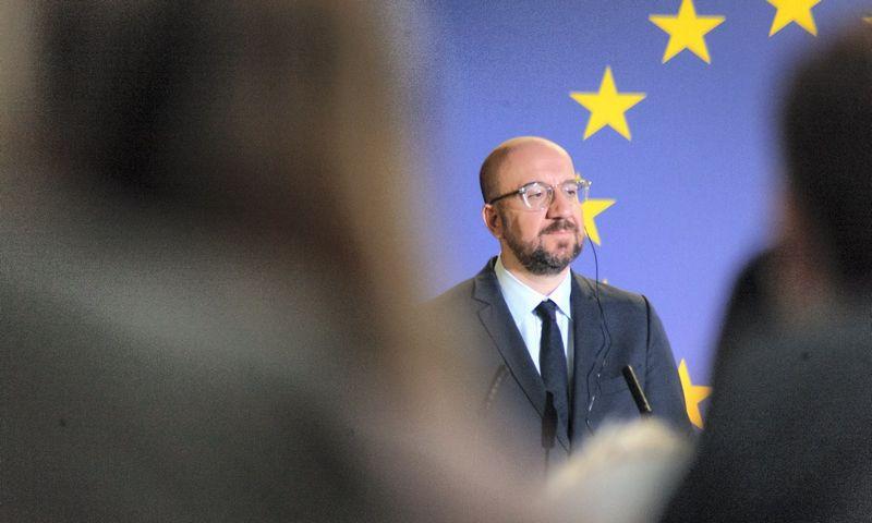 Charle'is Michelis, Europos Vadovų tarybos pirmininkas. Nicolas Landemard (Zuma Press/Scanpix) nuotr.