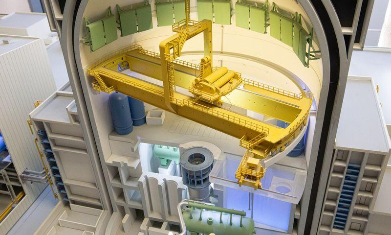 Baltarusijos atominės elektrinės Astrave maketas. Vladimiro Ivanovo (VŽ) nuotr.