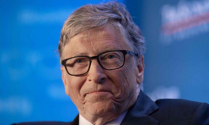 """Billas Gatesas, """"Microsoft"""" įkūrėjas. Nicholas Kamm (AFP/""""Scanpix"""") nuotr."""