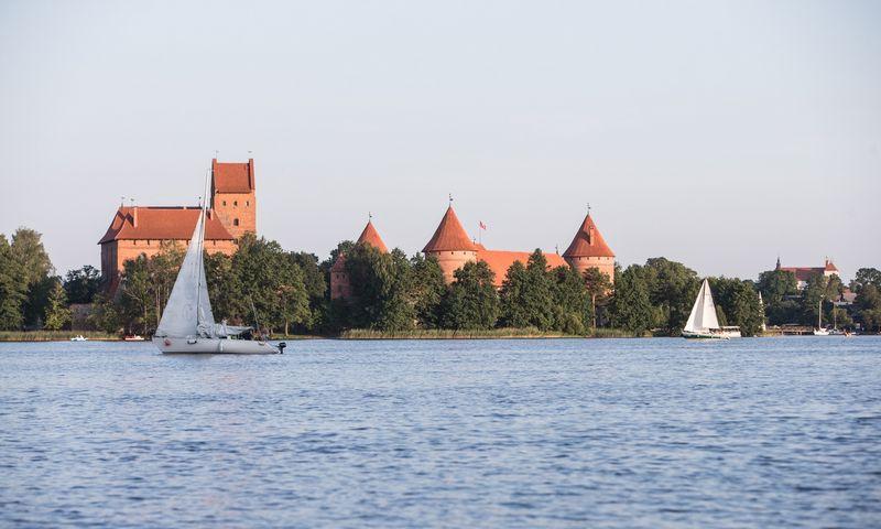 Trakai. Jachtos Galvės ežere. Juditos Grigelytės (VŽ) nuotr.
