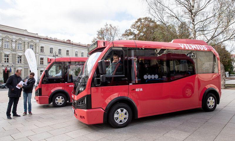 Pernai Vilniuje pradėjo važinėti pirmieji elektriniai autobusai Lietuvoje. Juditos Grigelytės (VŽ) nuotr.