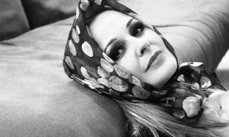 """Aktorė Jolanta Dapkūnaitė repetuojant """"Juliją"""" Nacionaliniame dramos teatre. Jovitos Balčiūnaitės / LNDT nuotr."""