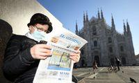 Italijoje – ketvirtoji koronaviruso auka