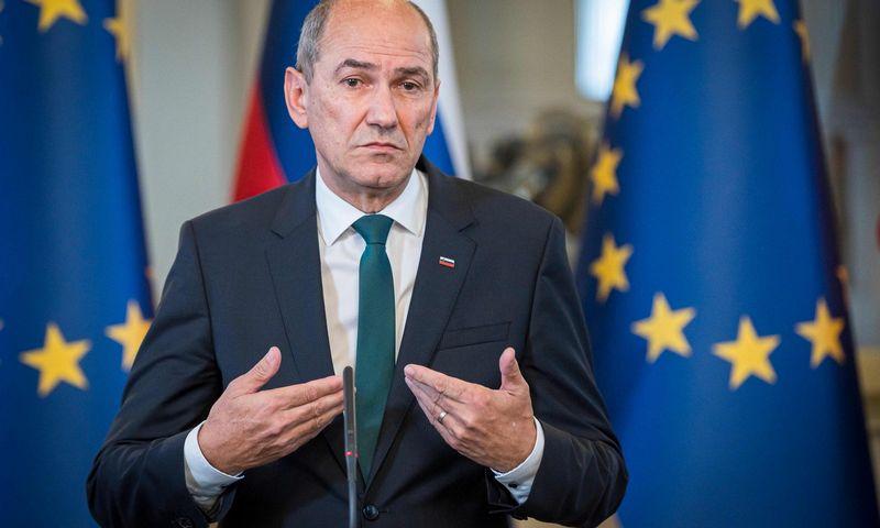 """Janezas Janša. Jure Makovec (AFP/""""Scanpix"""") nuotr."""