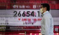 Investuotojų panika Vakarų biržose: bet pasižiūrėkite į Kinijos akcijas