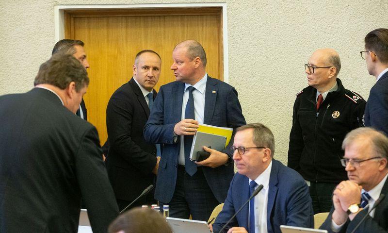 Vyriausybės posėdis karantino metu. Vladimiro Ivanovo (VŽ) nuotr.