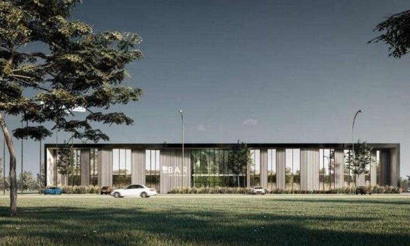 """Bendrovės vizualizacija. Projekto autoriai UAB """"2L Architektai"""", projekto vadovas Julius Lapinskas."""