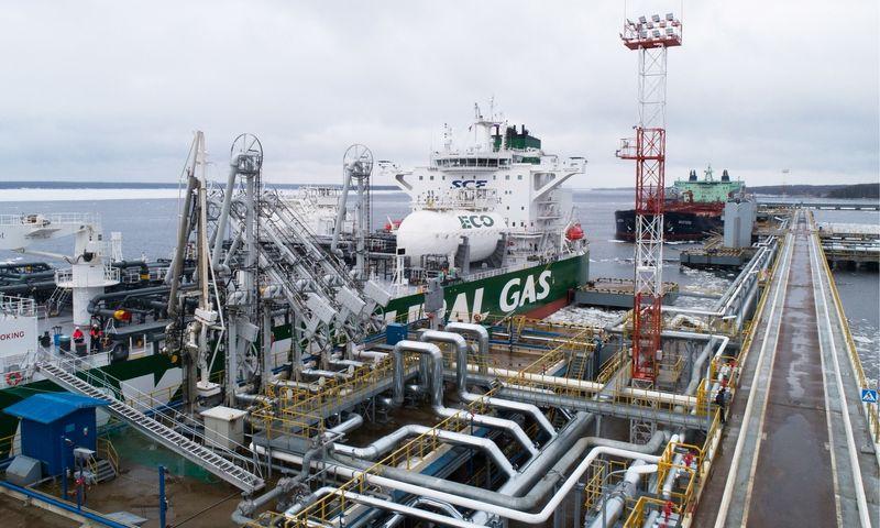 Jau dvi savaites Rusijos Primorsko uoste nepakrautas nė vienas naftos tanklaivis. Aleksando Riumino/TASS nuotr.