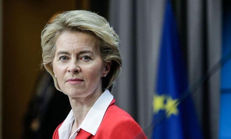 "Ursula von der Leyen, Aris Oikonomou (""AFP""/""Scanpix"") nuotr."