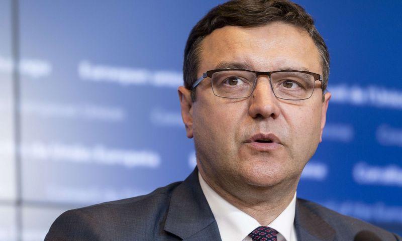 """Latvijos finansų ministras Janis Reiras. Thierry Monasse'o (AFP / """"Scanpix"""") nuotr."""