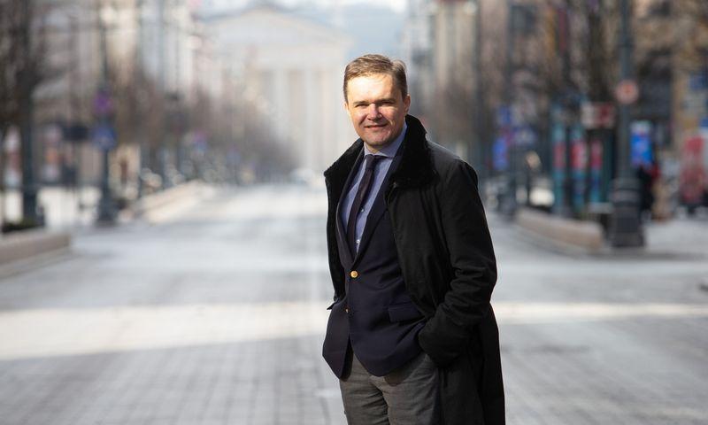 """Paulius Gebrauskas, """"Baltic Sotheby's International Realty"""" bendraturtis: """"Iš Baltijos valstybių sostinių pats brangiausias NT kainomis yra Vilnius"""". Juditos Grigelytės (VŽ) nuotr."""