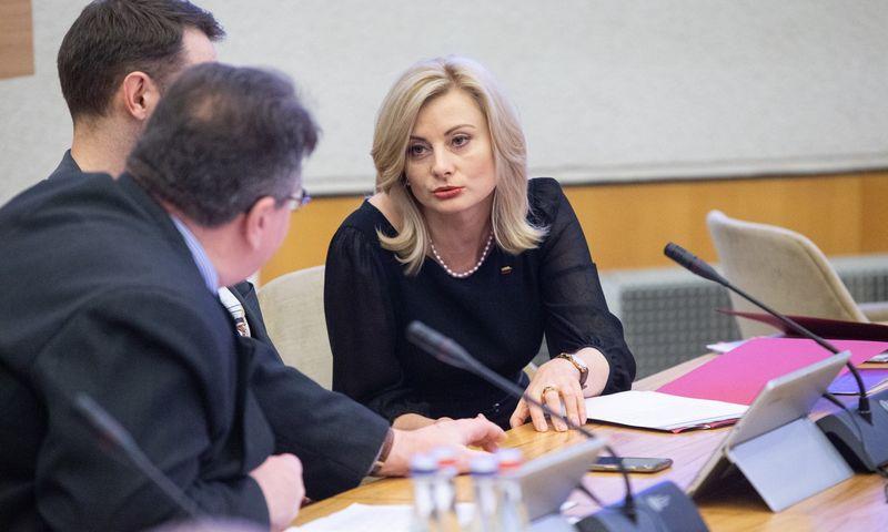 Sprendimą pratęsti tranzito laikotarpį Vyriausybei pateikė Rita Tamašunienė, vidaus reikalų ministrė. Vladimiro Ivanovo (VŽ) nuotr.