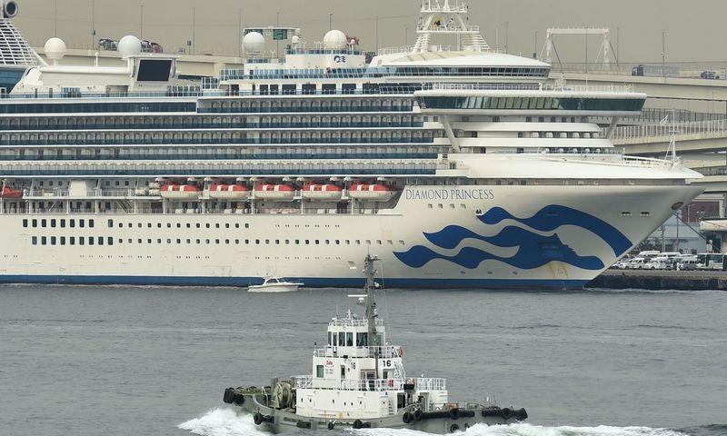 """Kompanijai """"Carnival"""" priklausantis laivas """"Diamond Princess"""" tapo koronaviruso krizės kruizų sektoriuje simboliu. Kazuhigo Nogi (AFP / """"Scanpix"""") nuotr."""