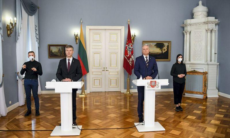 Prezidentas G. Nausėda kitos savaitės pradžioje žada apsispręsti, ar teikti D. Jauniškį į VSD vadovus antrai kadencijai. Roberto Dačkaus (Prezidento kanceliarija) nuotr.