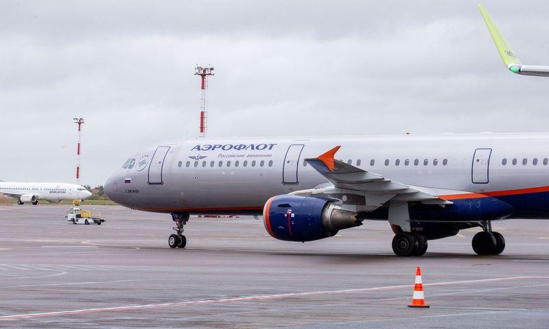 """""""Aeroflot"""" buvo paskutinė bendrovė, vykdžiusi tarptautinius skrydžius į Rusiją. Juditos Grigelytės (VŽ) nuotr."""