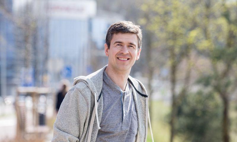 """Justinas Jazepčikas, privatus investuotojas, """"Investologija.lt"""" tinklaraštininkas. Juditos Grigelytės (VŽ) nuotr."""