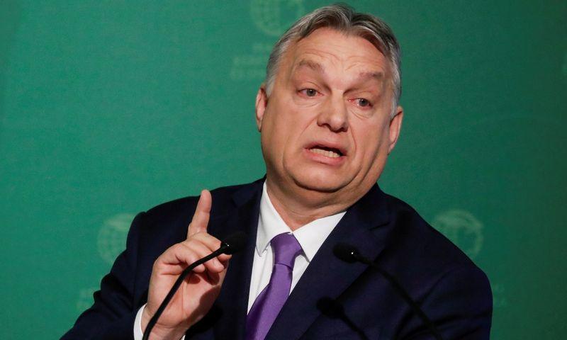 """Viktoras Orbanas, Vengrijos premjeras. Bernadetto Szabo (""""Reuters"""" / """"Scanpix"""") nuotr."""