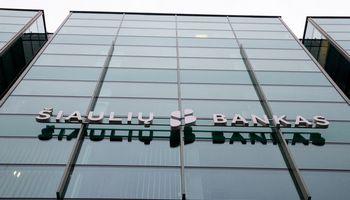 Šiaulių bankas dividendų šįkart nemokės