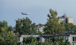 Lietuvos oro erdvėjeskrydžių balandžio pradžioje sumažėjo 83%