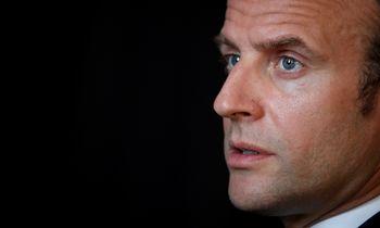 """""""Financial Times"""" interviu suE. Macronu: metas mąstyti apie tai, apie ką net nebūtume pagalvoję"""