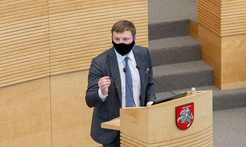 Vilius Šapoka, finansų ministras. Juditos Grigelytės (VŽ) nuotr.