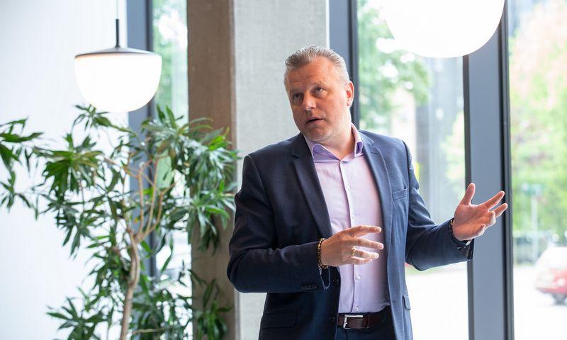 """Vytautas Bučinskas, """"Telia"""" verslo užtikrinimo ir transformacijos vadovas. Juditos Grigelytės (VŽ) nuotr."""