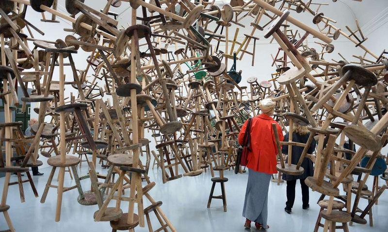 Vokietijos paviljonas 2013 m. Šiuolaikinio meno bienalėje. GABRIEL BOUYS / APF nuotr.
