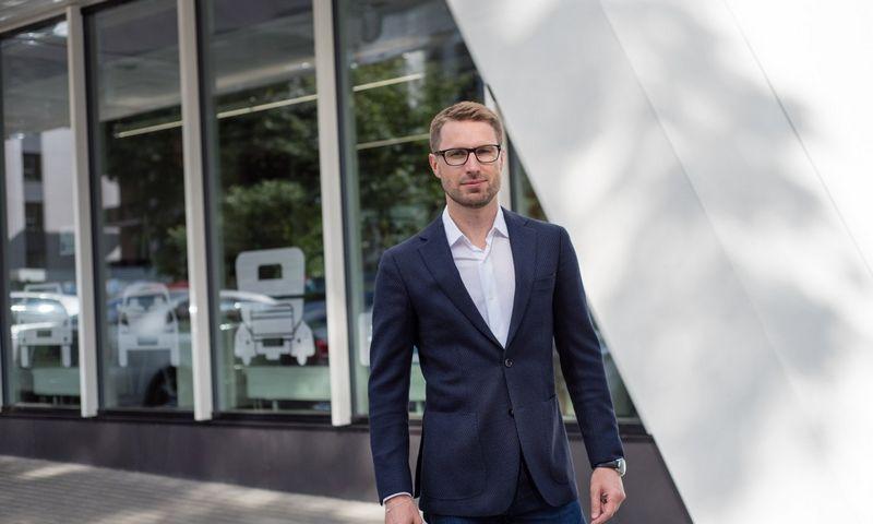 """Karolis Šiaudkulis, antros pagal užimamą rinkos dalį Lietuvoje pakuočių atliekų tvarkymo organizacijos """"Gamtos ateitis"""" vadovas."""