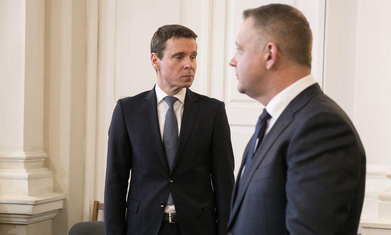 """Iš kairės: Raimundas Kurlianskis, buvęs """"MG Baltic"""" viceprezidentas, Eligijus Masiulis, buvęs Libralų sąjūdžio pirmininkas. Vladimiro Ivanovo (VŽ) nuotr."""