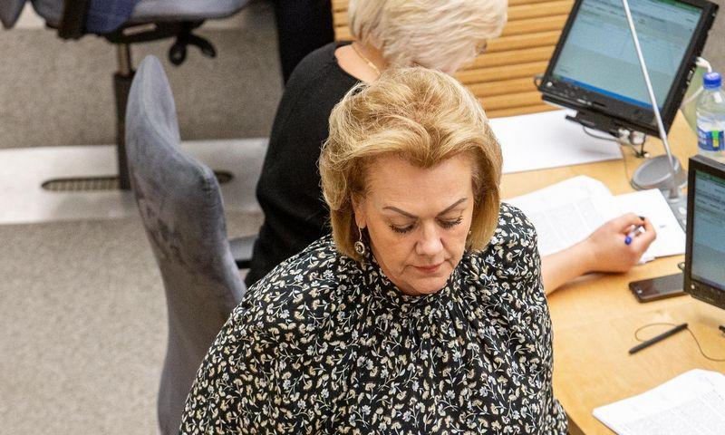Seimo narė I. Rozova. Juditos Grigelytės (VŽ) nuotr.