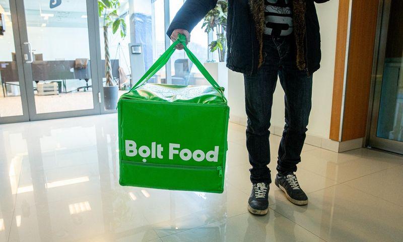 """Bolt food"" maisto pristatymas. Juditos Grigelytės (VŽ) nuotr."