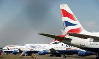 """Profsąjungos susikibo su tūkstančius darbuotojų ketinančiomis atleisti """"British Airways"""""""