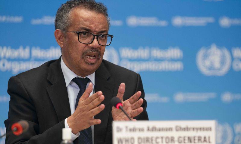 "PSO vadovas Tedrosas Adhanomas Ghebreyesusas. Christopherio Blacko ( WHO / AFP / ""Scanpix"") nuotr."