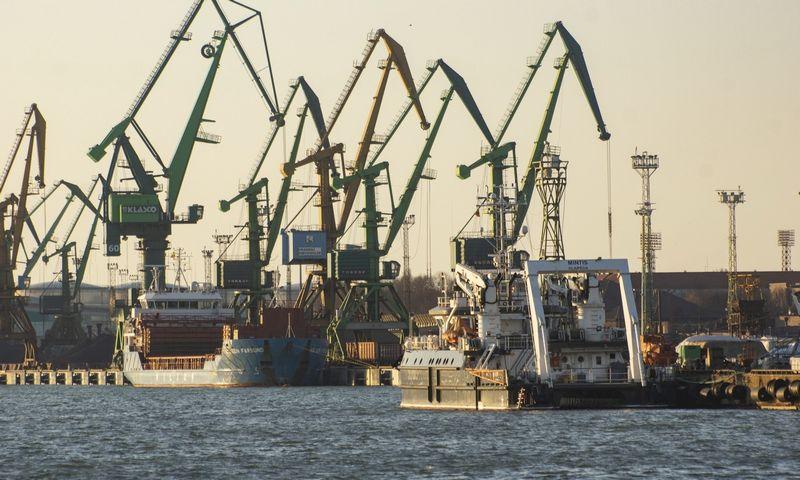 Klaipedos jūrų uostas. KLASCO krantinės. Algimanto Kalvaičio nuotr.