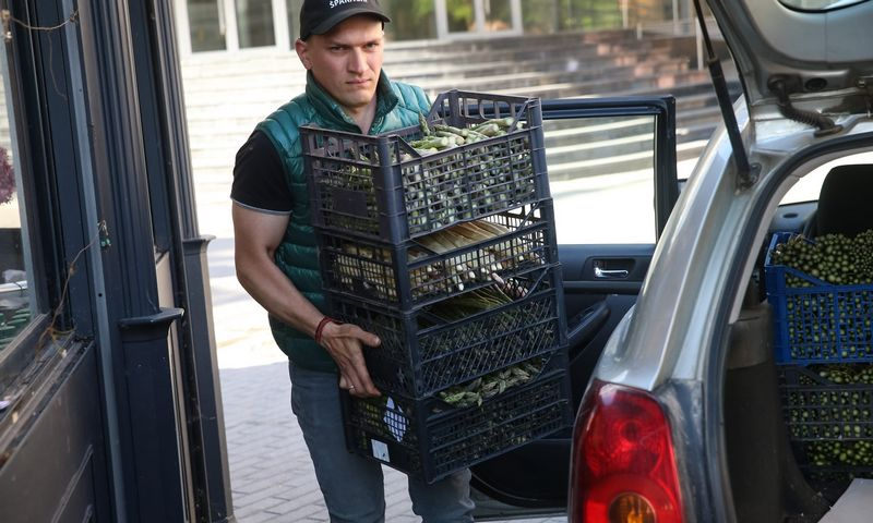 """Simonas Klinavičius, ūkio """"Geras šparagas"""" savininkas. Vladimiro Ivanovo (VŽ) nuotr."""