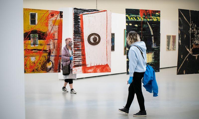 Lino Leono Katino paroda Nacionalinėje dailės galerijoje. Gintarės Grigėnaitės/NDG nuotr.