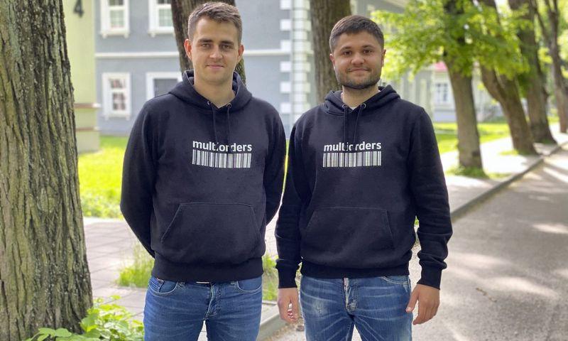 """""""Multiorders"""" vadovas Domantas Bakutis (kairėje) ir finansų direktorius Georgijus Zelenkovas. Bendrovės nuotr."""