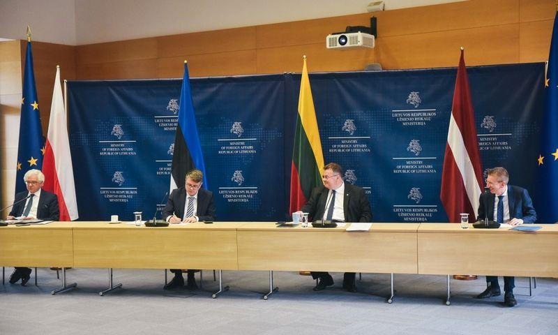 Baltijos šalių ir Lenkijos UR ministrų susitikimas Vilniuje. Lietuvos URM nuotr.